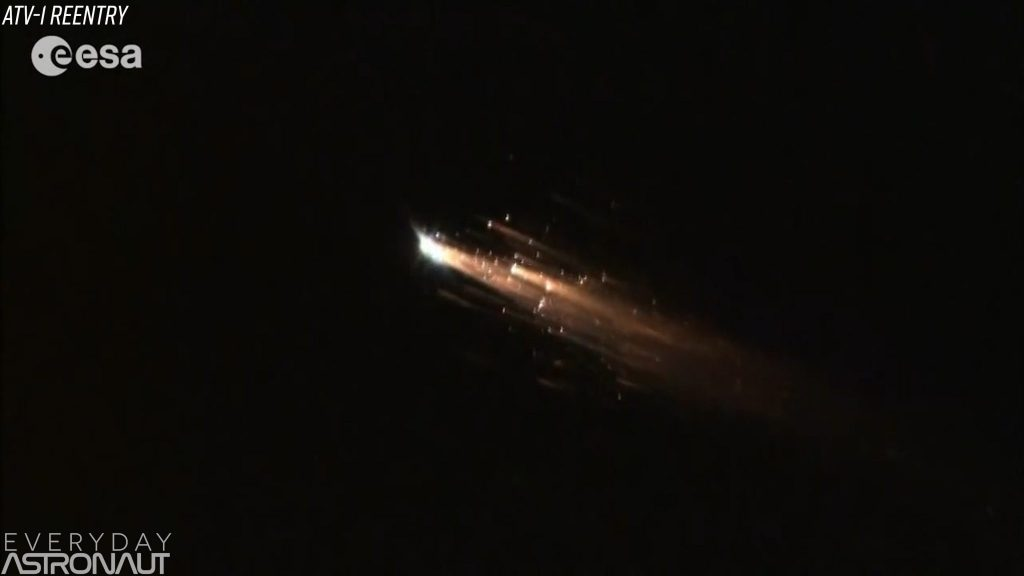 ESA's ATV-1 reentry disintegrates upon reentry
