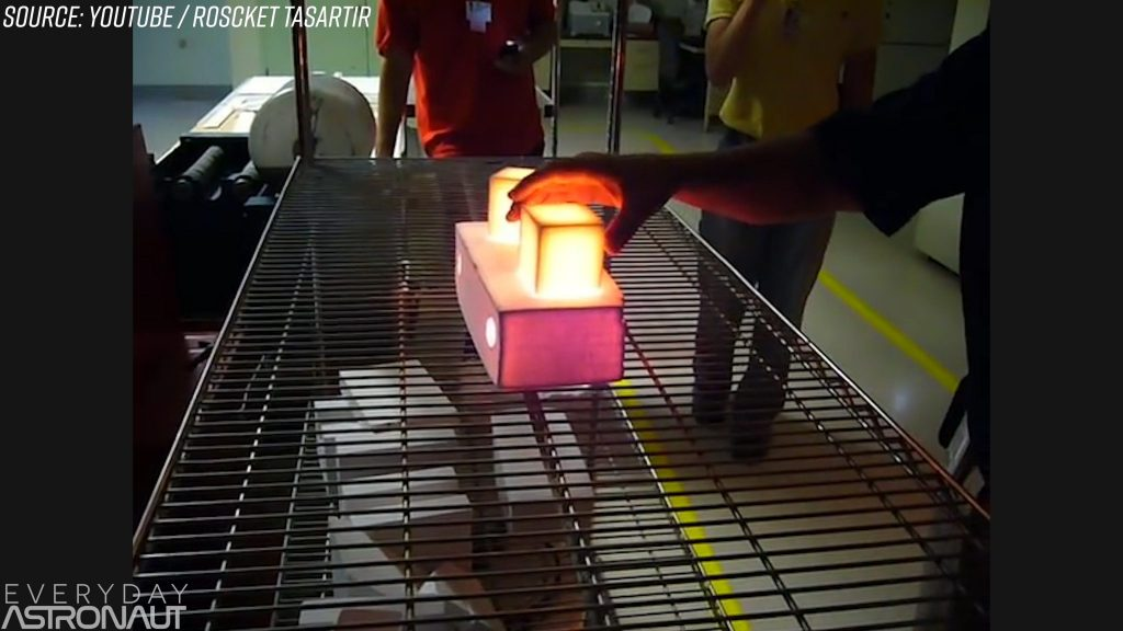 Touching a space shuttle tile