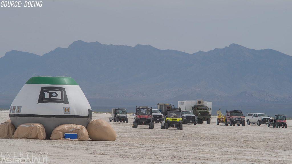 Boeing Starliner recovery fleet