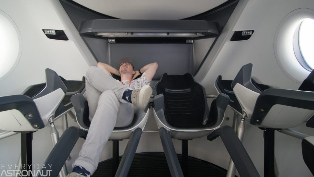 SpaceX Dragon Seats Interior