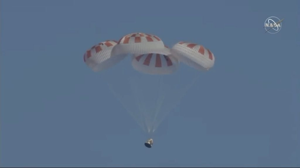 SpaceX Crew Dragon DM1 splashdown