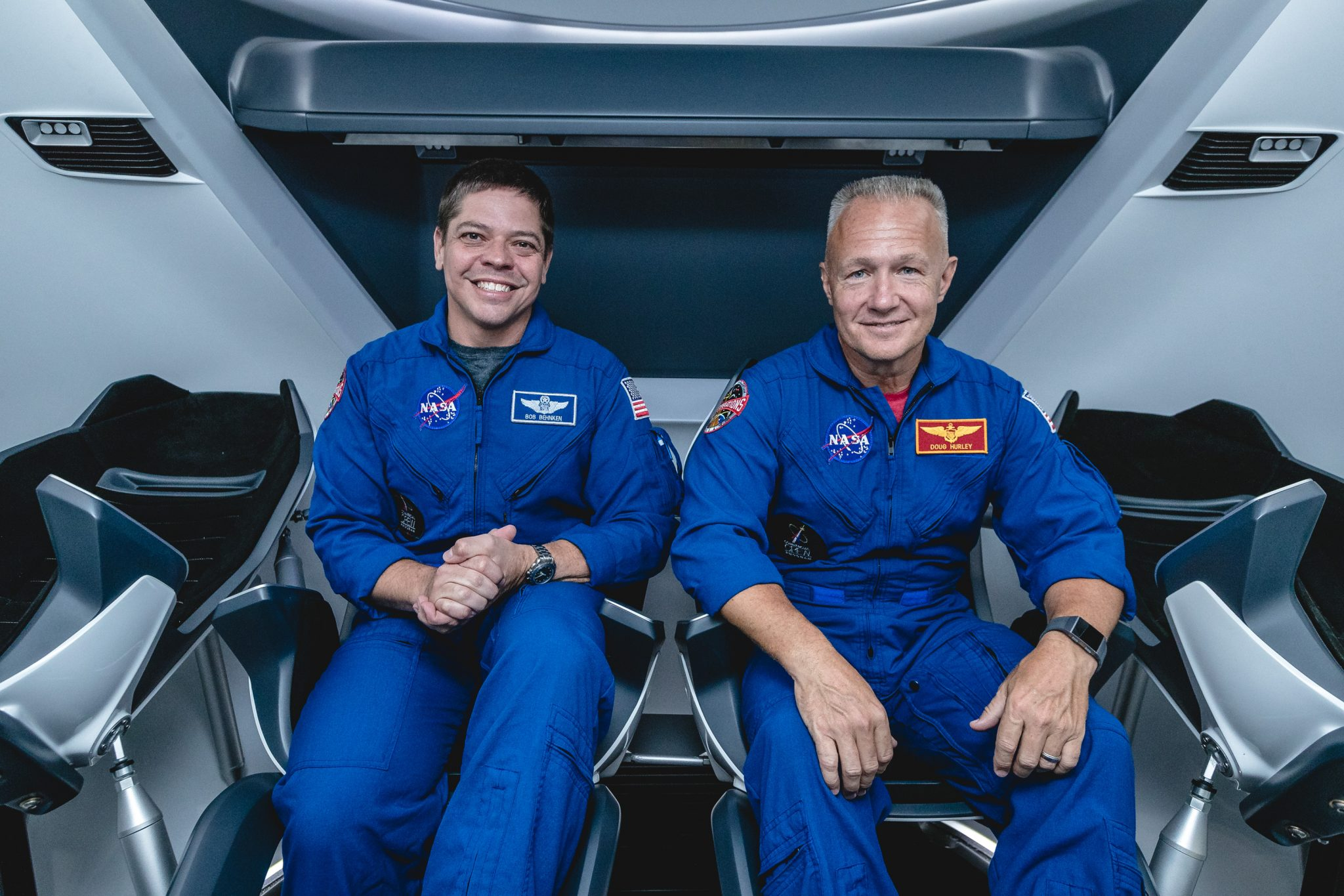 NASA Astronaut, Bob Behnken, Doug Hurley, SpaceX, Crew Dragon