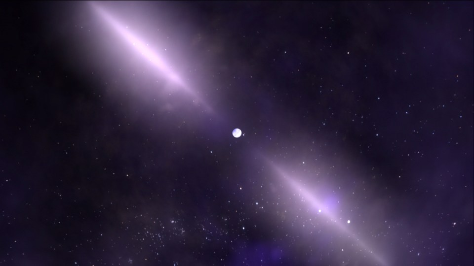 A pulsar was zipping through the Cosmos!