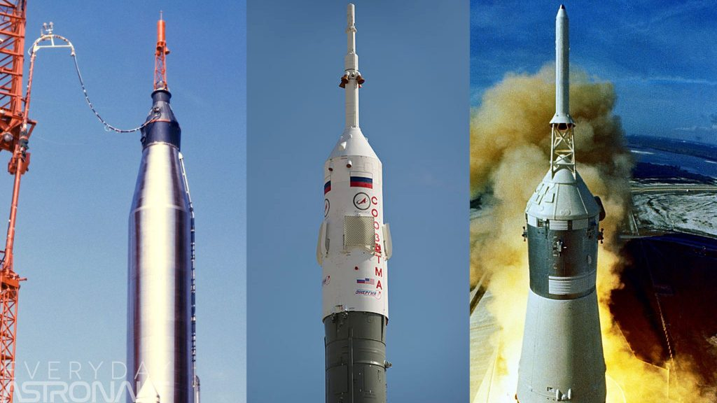 Why have SpaceX, Boeing & Blue Origin ditched abort towers? Liquid fuel hypergolic launch abort system escape tower anomaly Soyuz apollo mercury