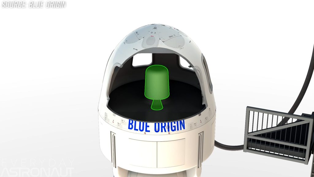 Blue Origin Solid rocket pusher abort motor new shepard