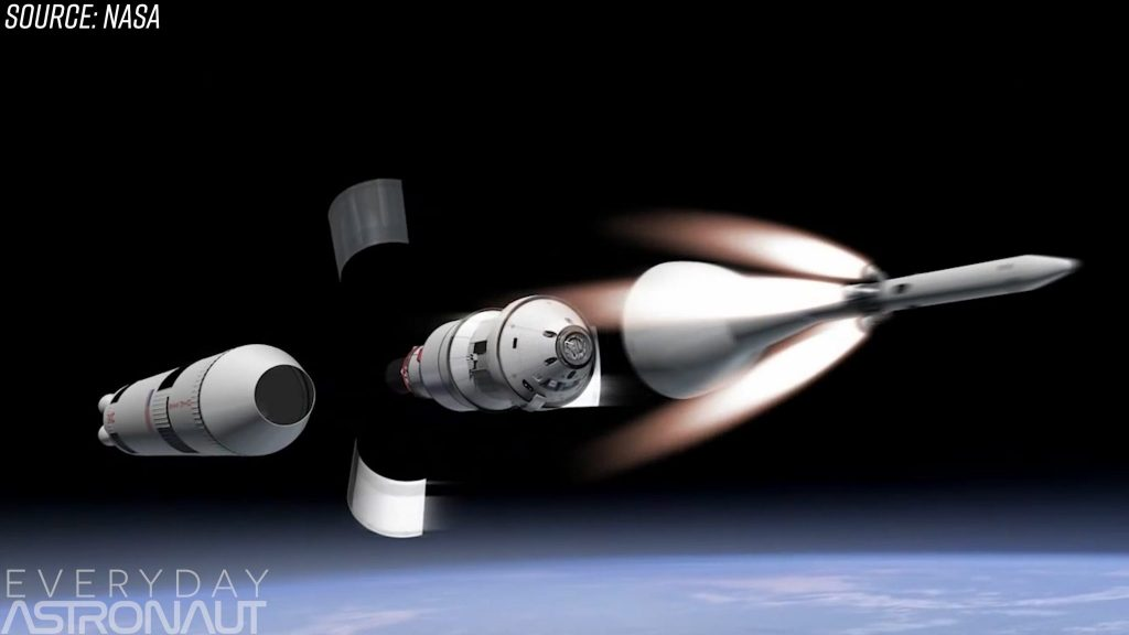 Orion abort tower ejection