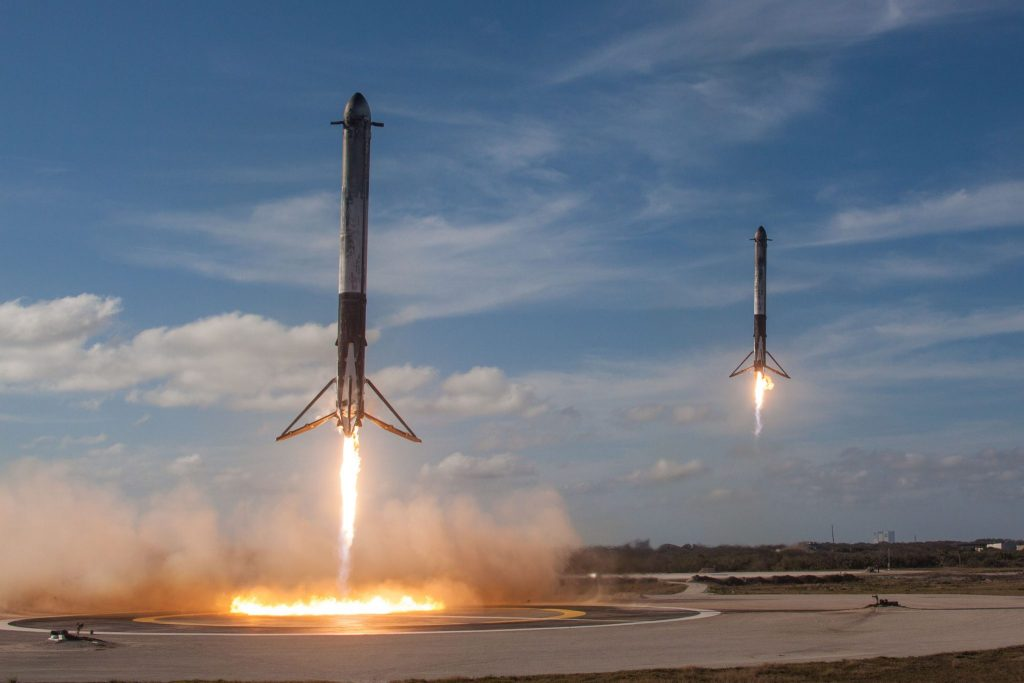 Side Boosters Landing