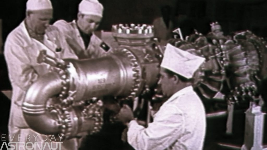Soviet NK15 NK33 being built