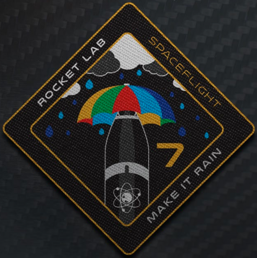 Make It Rain mission patch (credit: Rocket Lab)