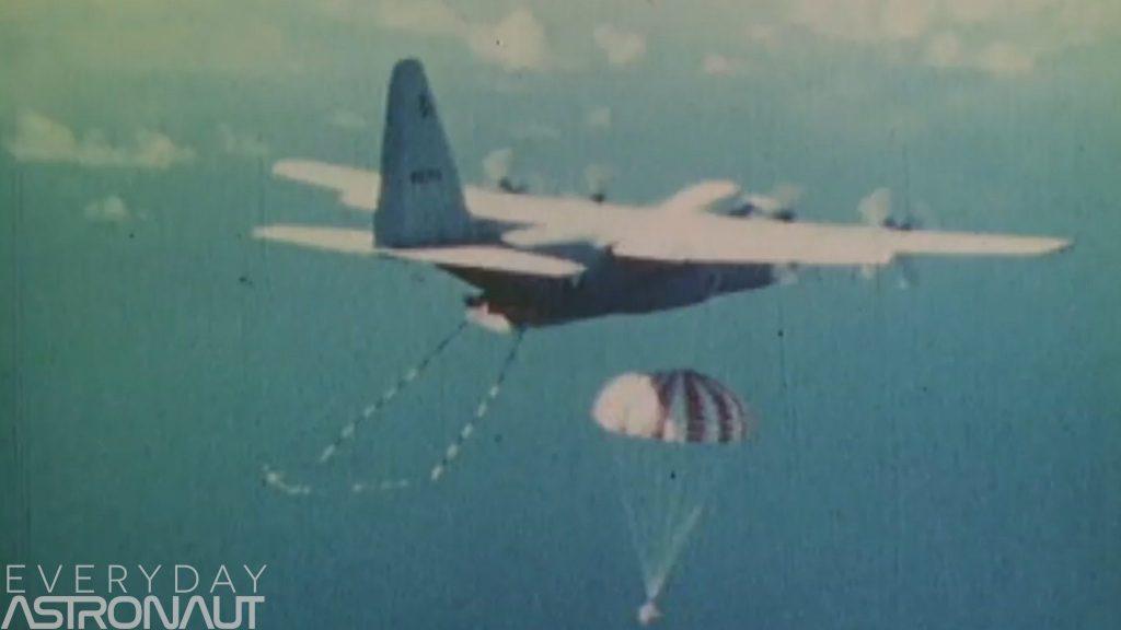 Corona Satellite recovery plane parachute