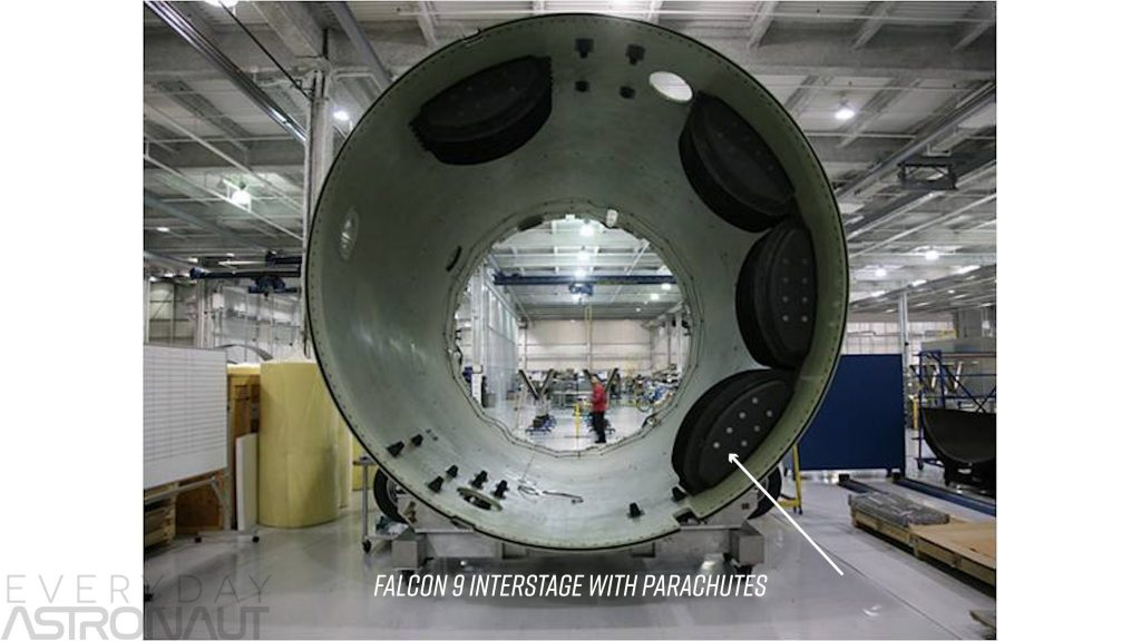 SpaceX Falcon 9 parachute interstage