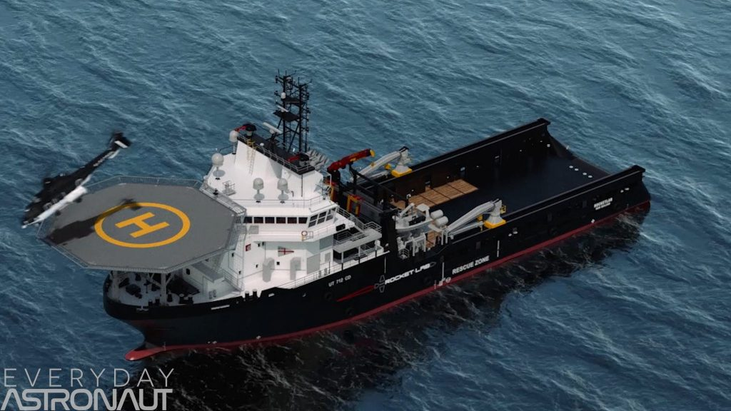 Rocket Lab helicopter boat