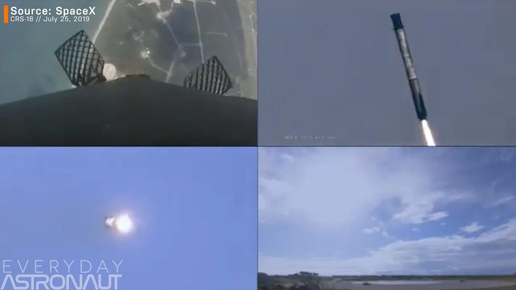 SpaceX CRS 18 reentry