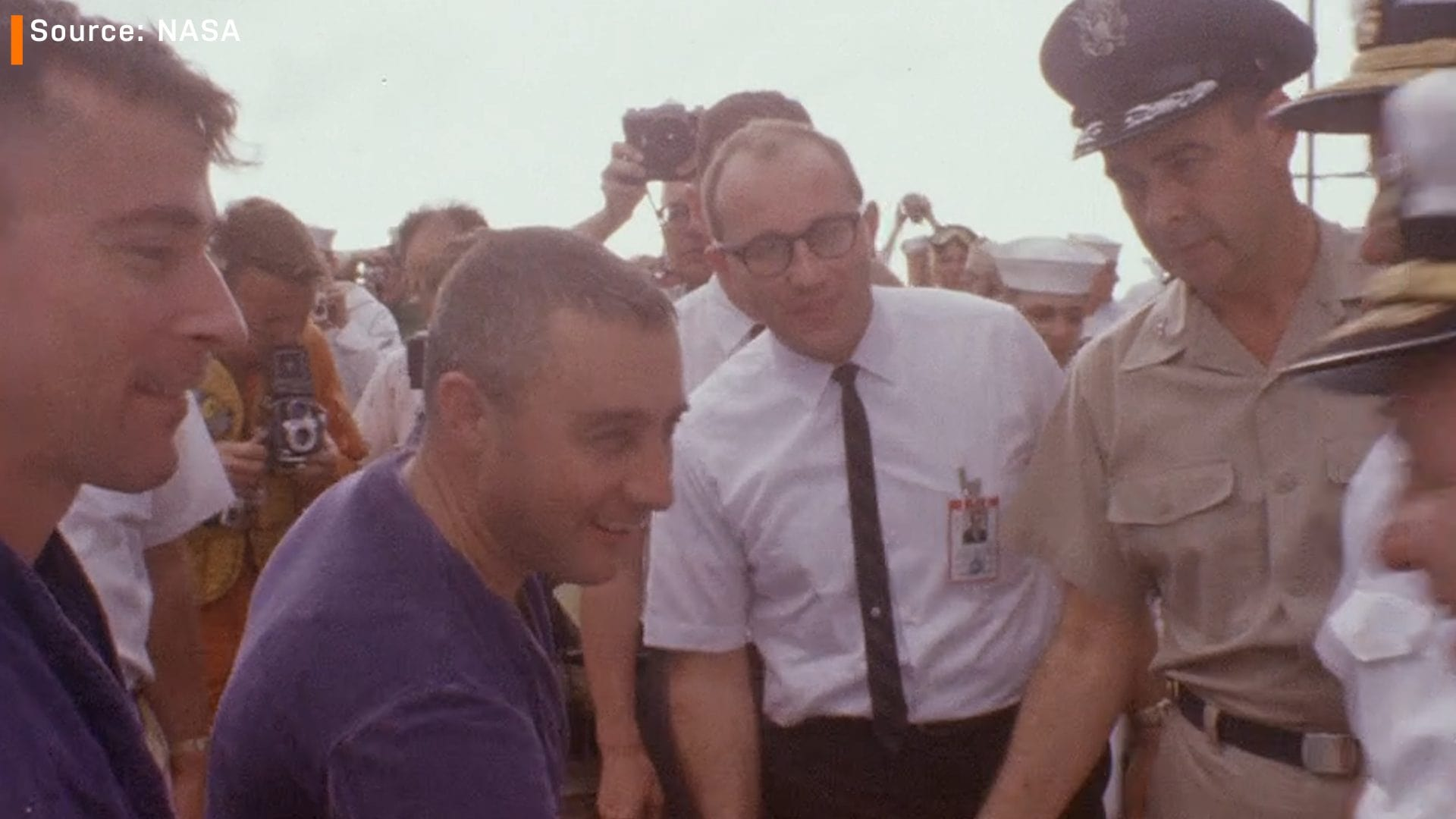 John Young and Gus Grissom Gemini corned beef sandwich