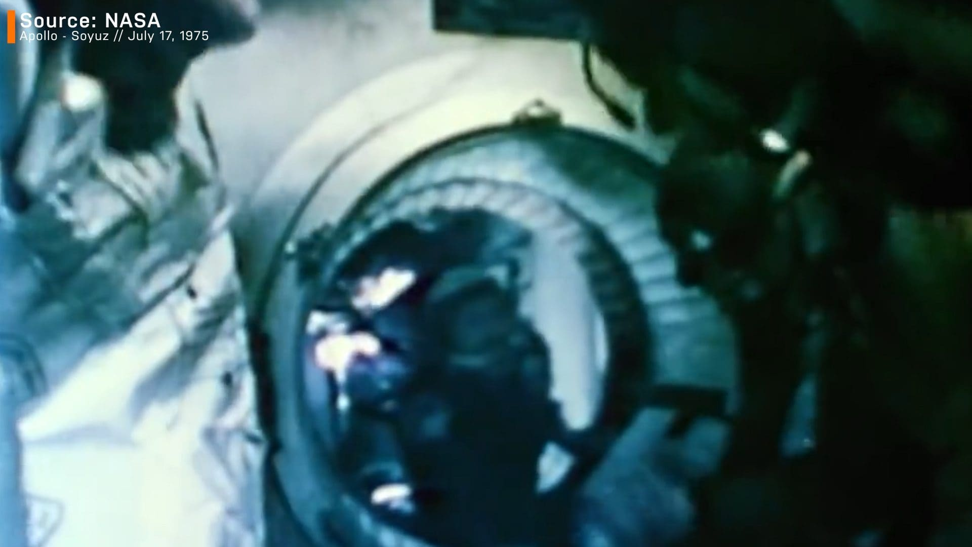 Apollo - Soyuz mission first handshake