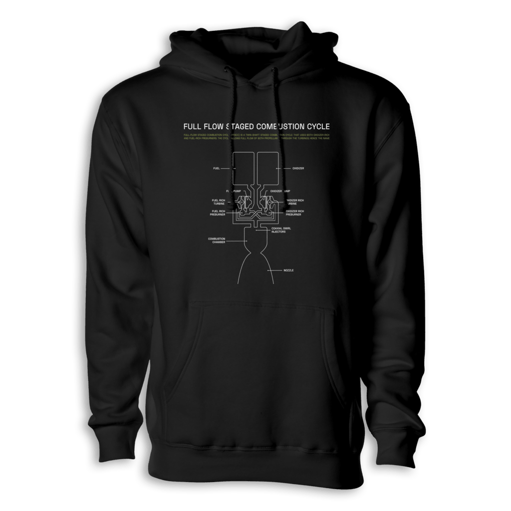 Full Flow Staged Combustion Cycle Hoodie Everyday Astronaut