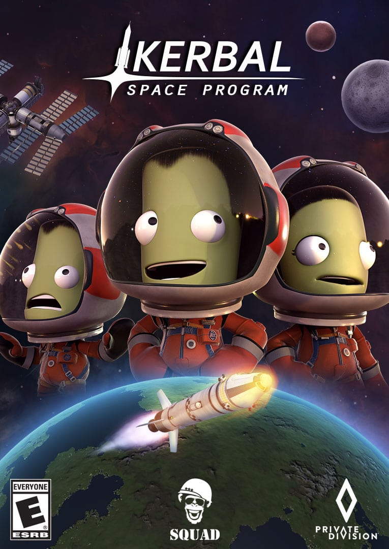 Kerbal Space Program game cover/poster