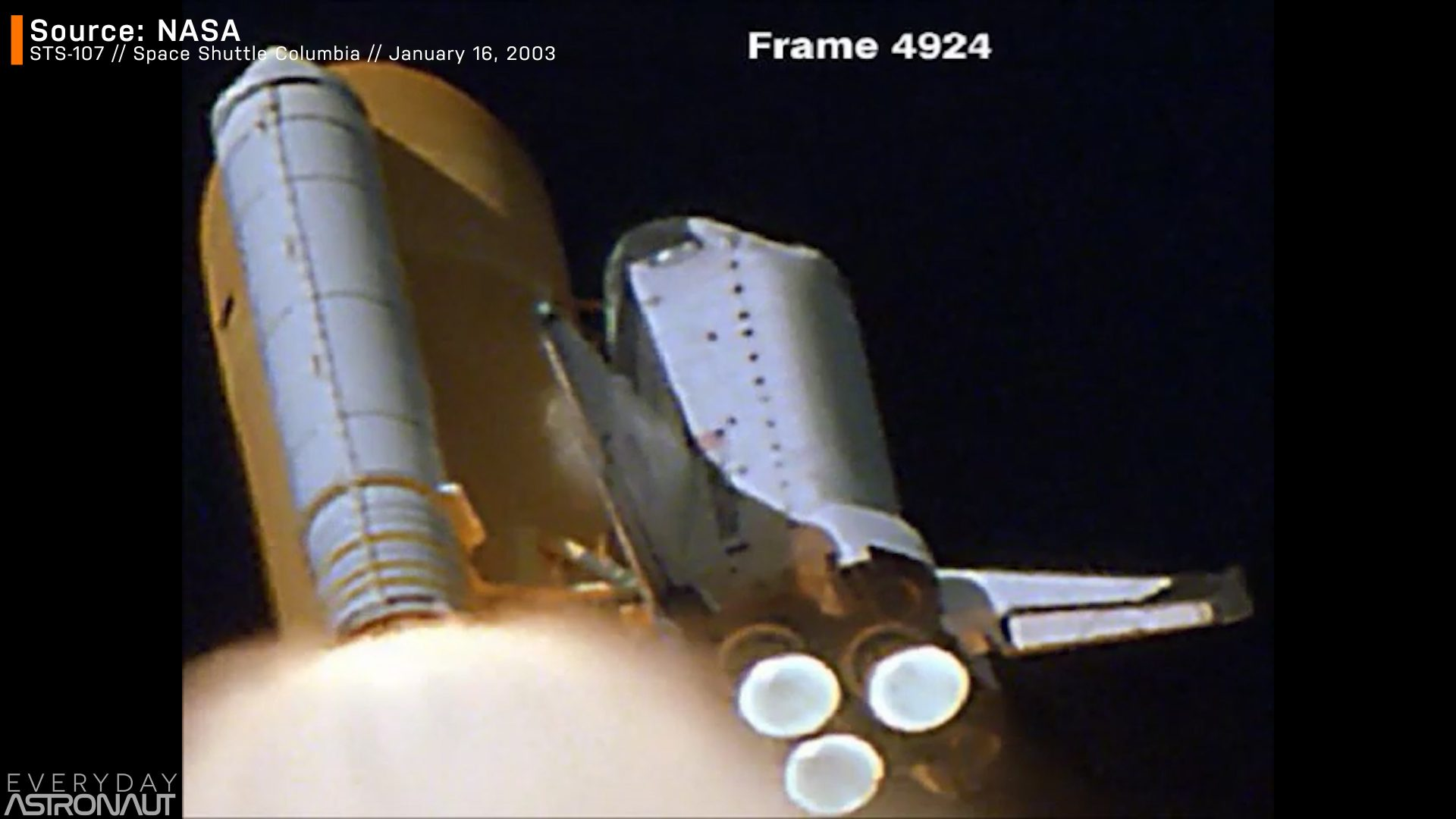 Space Shuttle Danger launch abort escape system