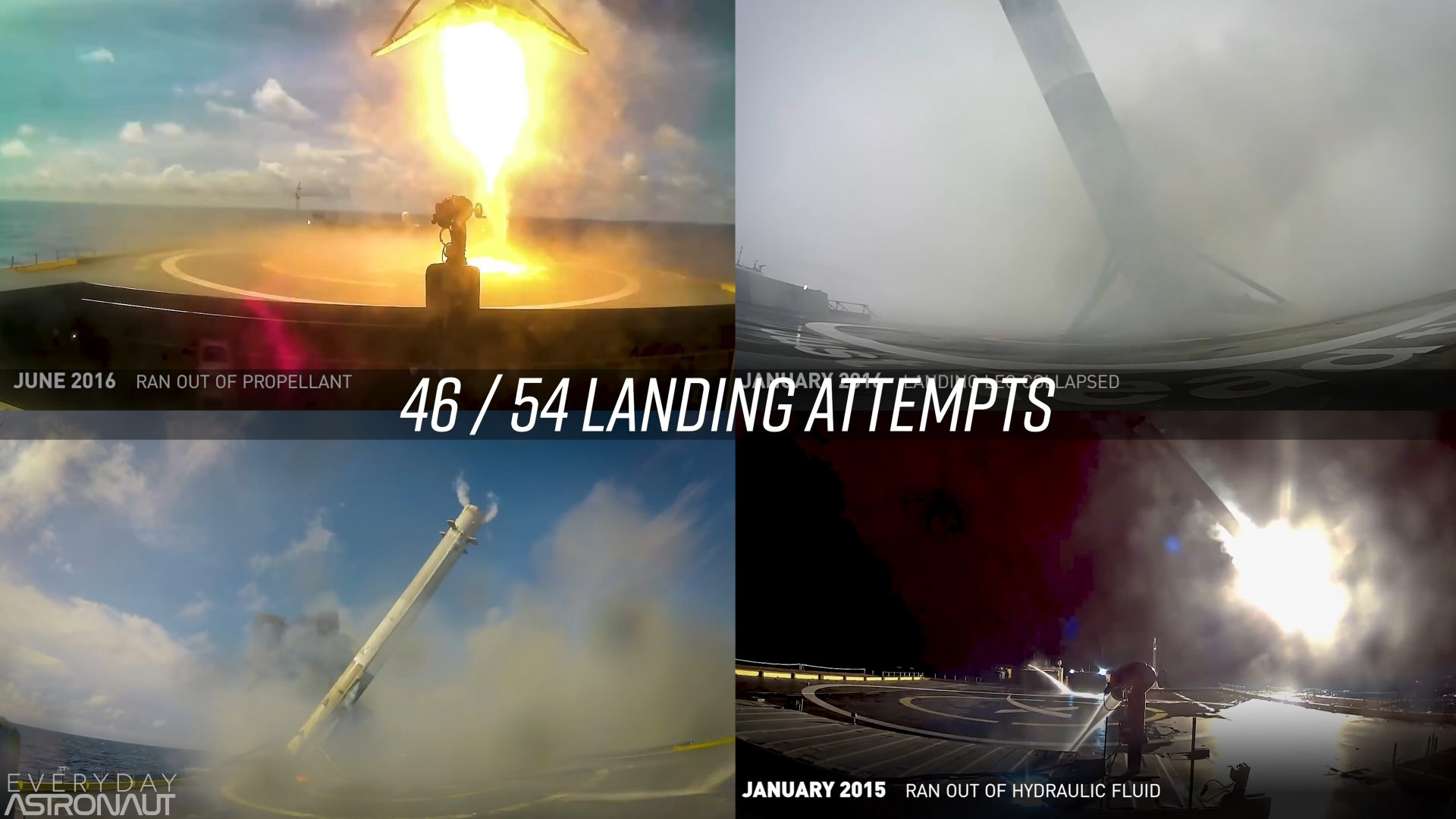 SpaceX landing failures