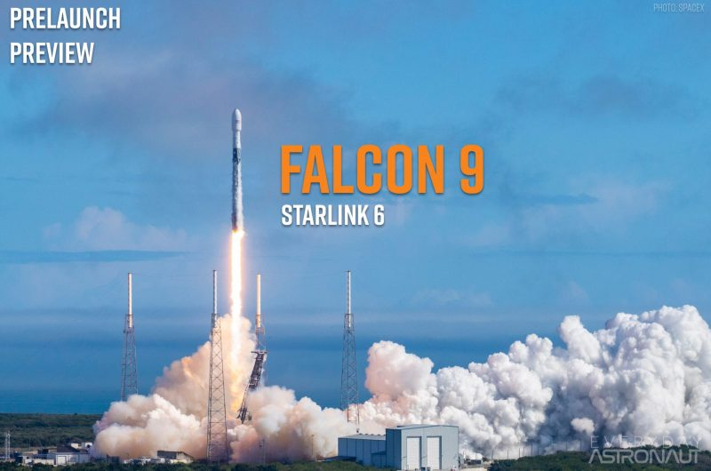 Starlink 6 launching on a Falcon 9 rocket