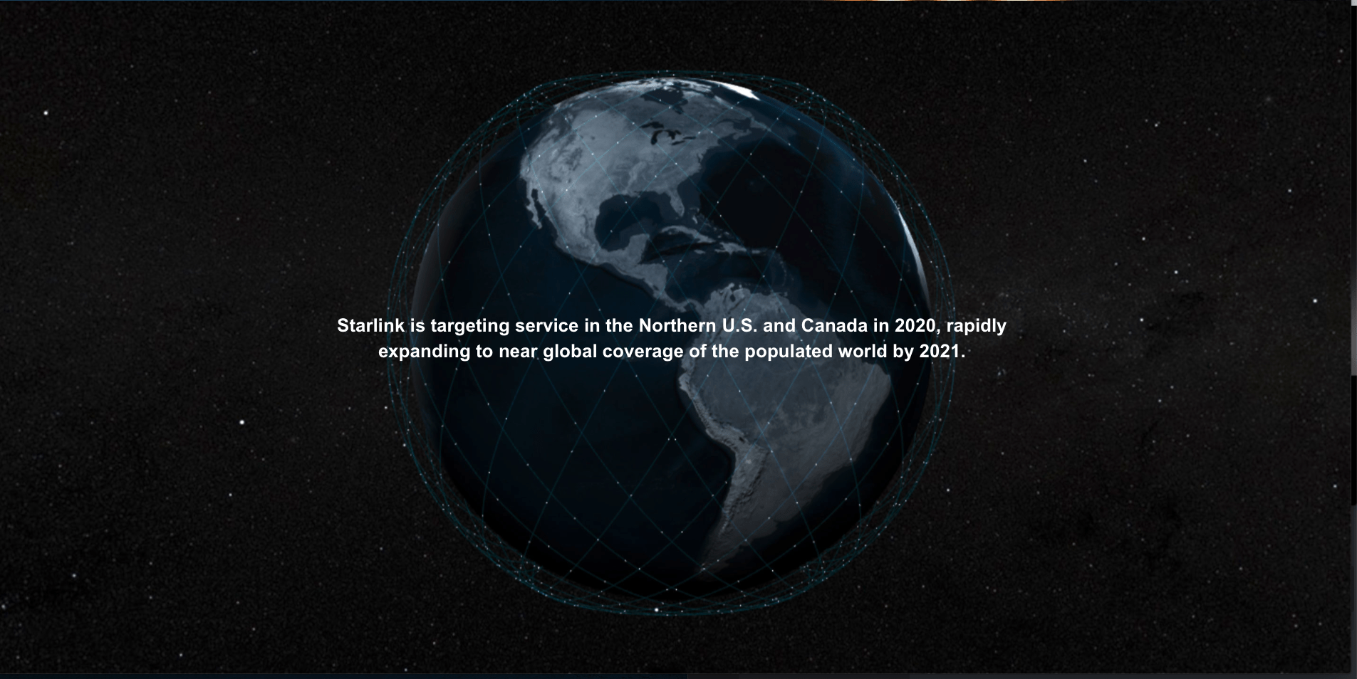 An image of the globe covered by Starlink orbital track tracings