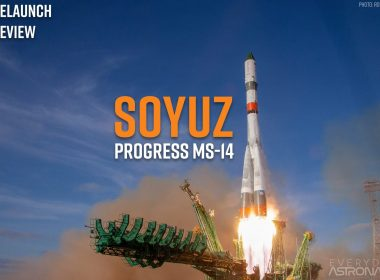 Progres MS-14's rocket lifting off the launch pad