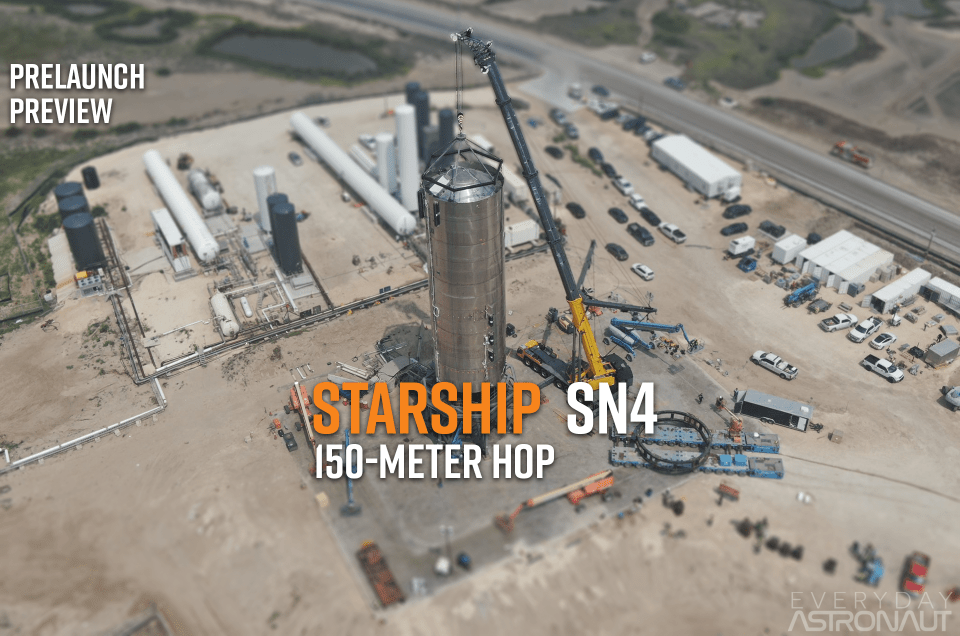 Starship SN-4 | Static Fire Test