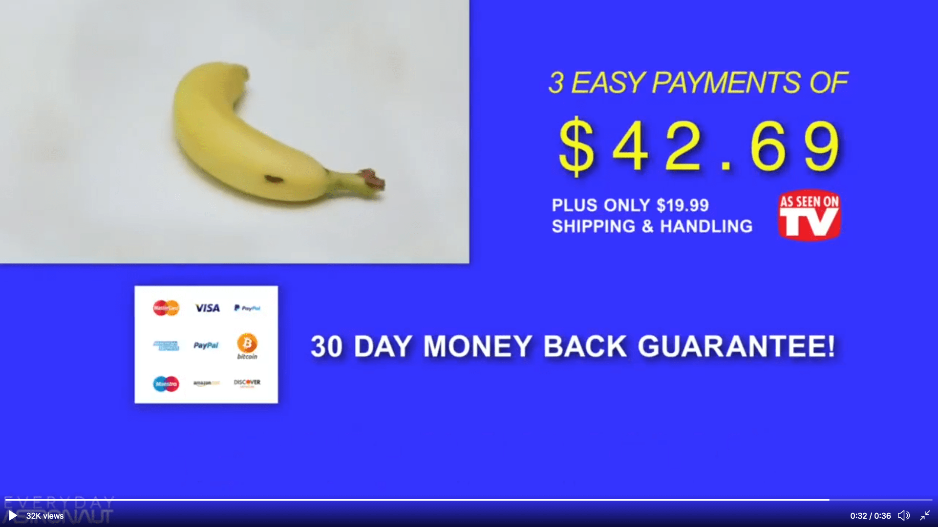 Fake banana advert for Metric vs Imperial
