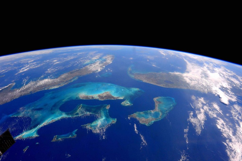 ocean earth blue clouds florida cuba united states