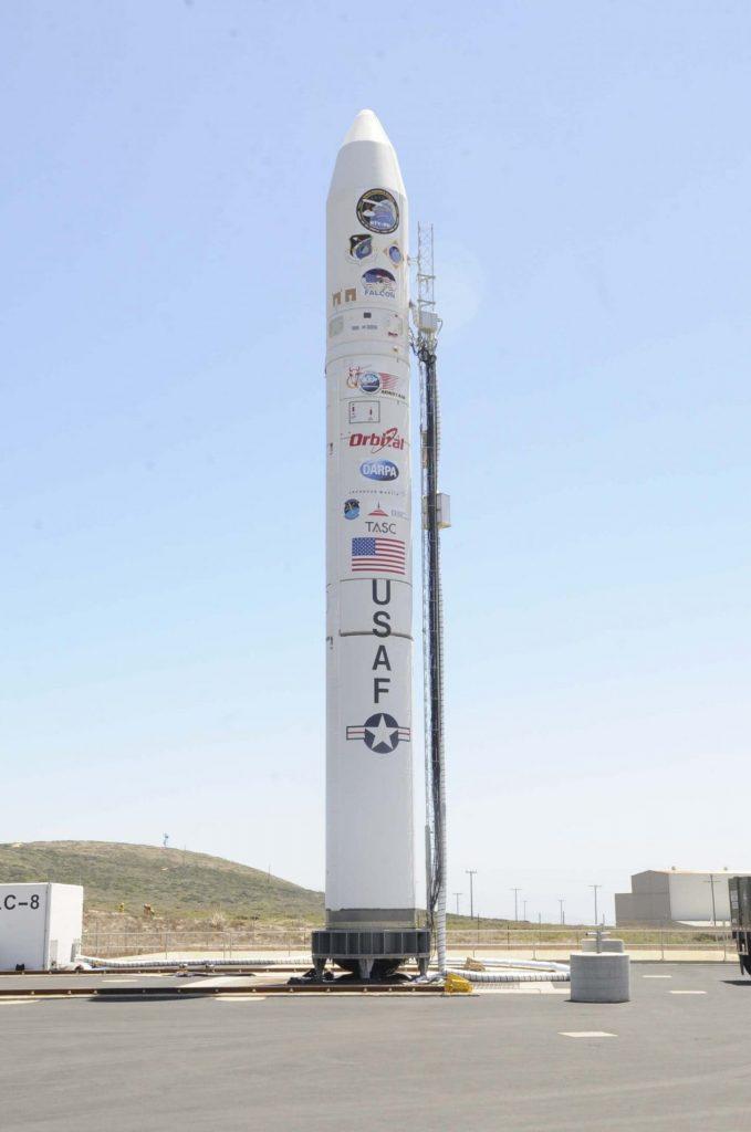Minotaur IV rocket on launch pad