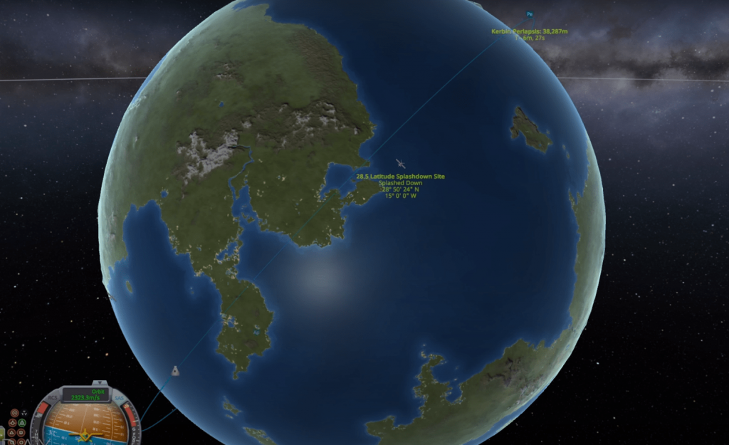 De-orbiting - periapsis lowering on opposite side of the planet