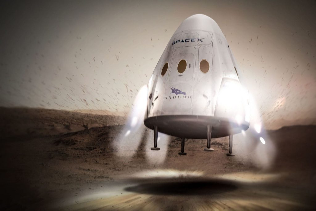 "SpaceX' proposed ""Red Dragon"" mission to Mars"