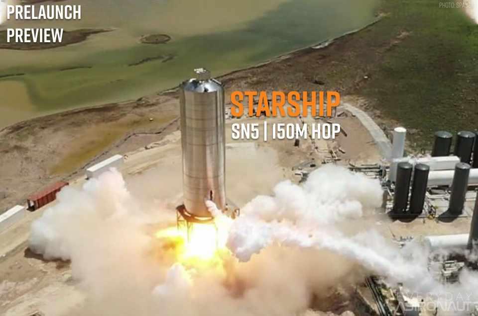 Starship SN-5 | 150 meter hop