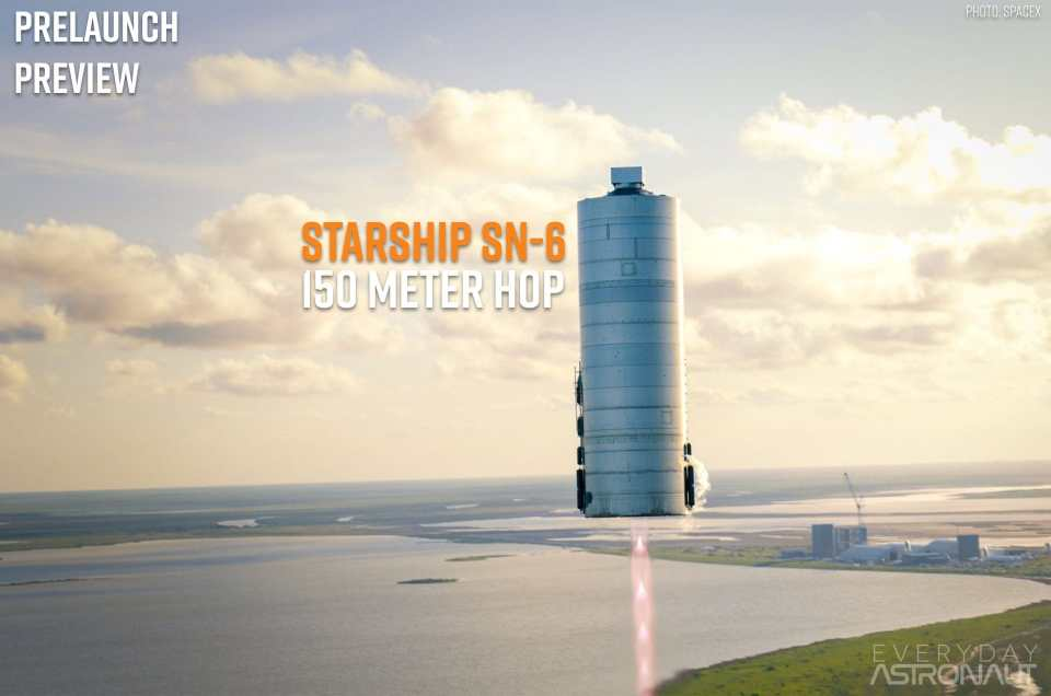 Starship SN-6 | 150-meter hop