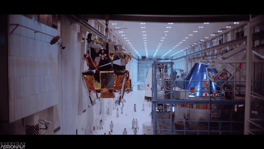Apollo Lunar Lander being prepared