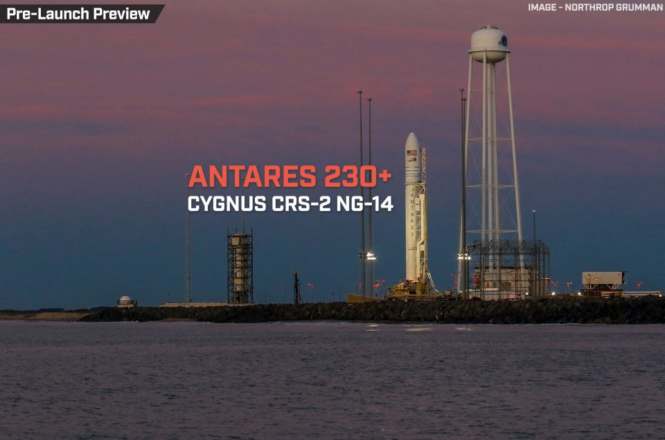 Cygnus CRS-2 NG-14 (S.S. Kalpana Chawla)| Antares 230+