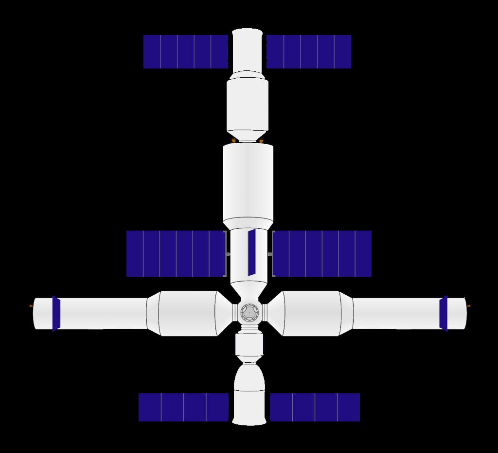 Chinese large orbital station diagram