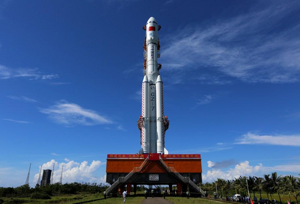 Long March 7, launch pad, Tianzhou 2