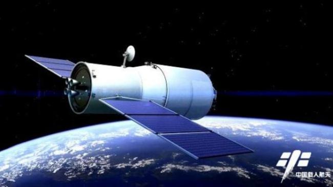 Tianzhou 1 spacecraft, artist concept