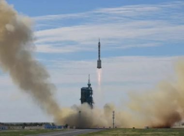 Liftoff of the Long March 2F carrying the Shenzhou-12 spacecraft (Credit: CASC)