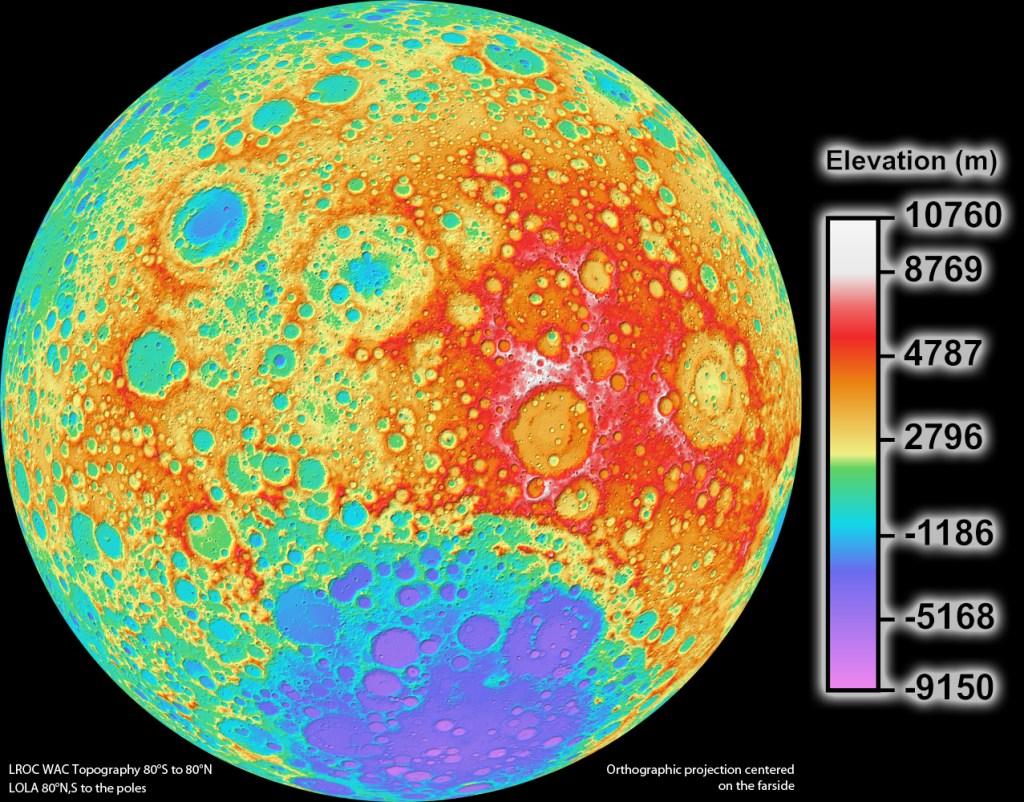 lro, ns-17, moon, topography