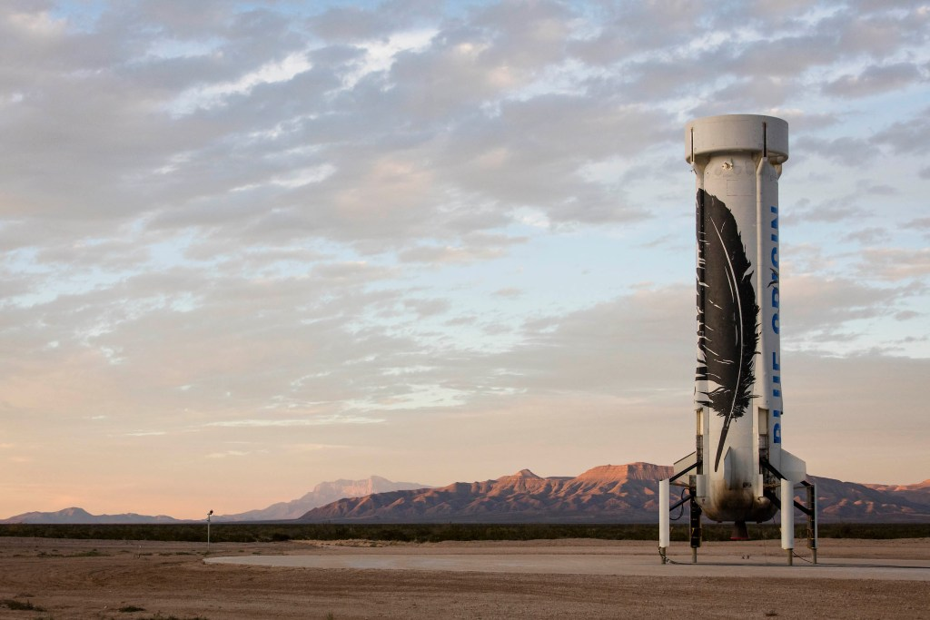 Landed New Shepard NS2, Blue Origin