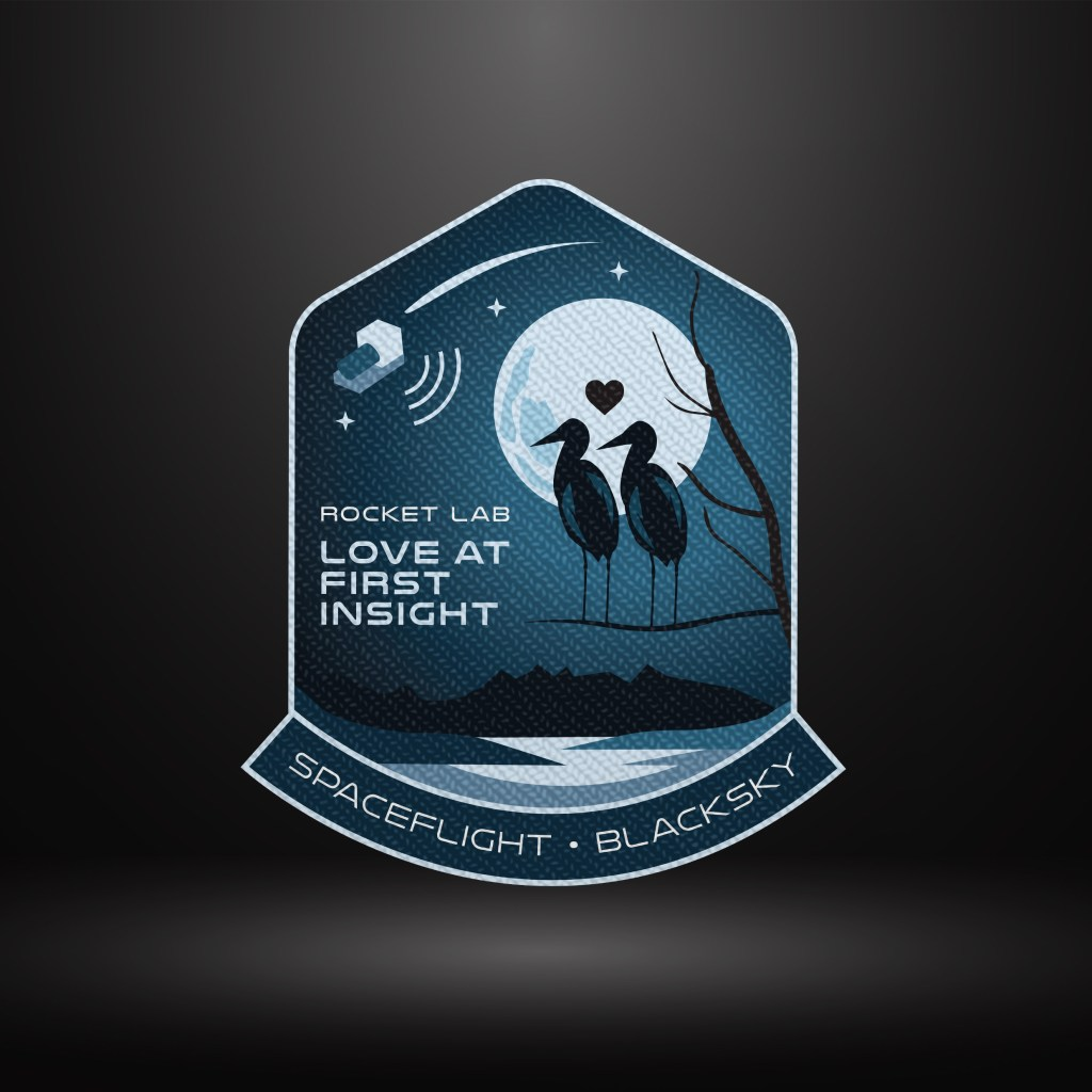 Love At First Insight's mission patch, the 22nd mission for Electron