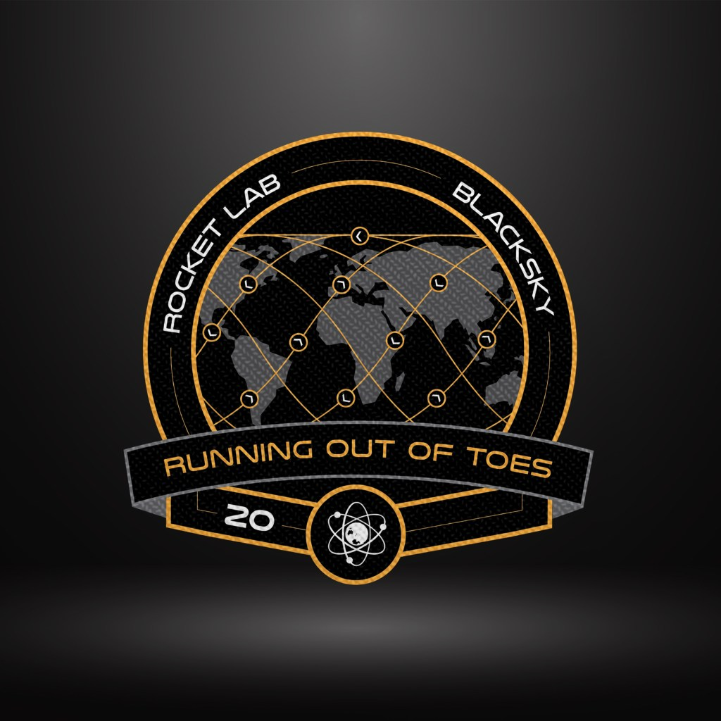 Running Out of Toes' mission patch