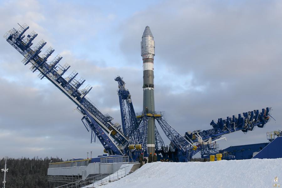 Soyuz 2.1v on the launch pad
