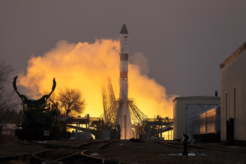 Launch of the Progress MS-16 mission atop a Soyuz-2.1a rocket