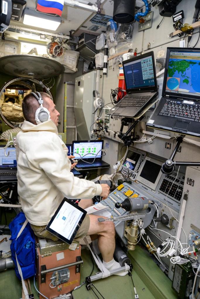 Roscosmos cosmonaut Sergey Ryzhikov and the TORU system