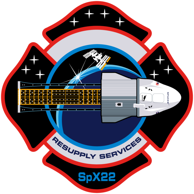 A patch of the CRS-22 (SpX-22) mission