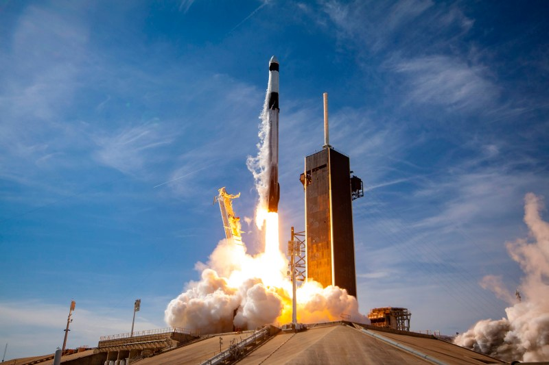 Lift off of the CRS-21 mission atop of the Falcon 9 Block 5 rocket