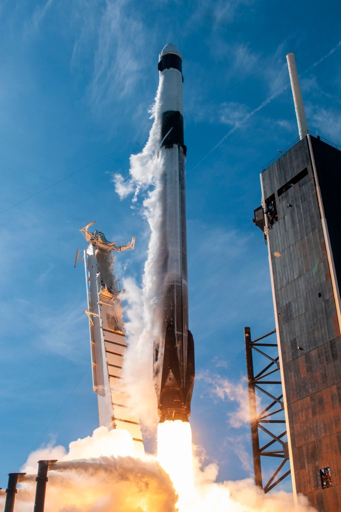 Lift-off of the Falcon 9 Block 5 with Cargo Dragon 2, CRS-21 mission